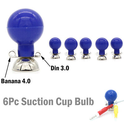6pcsbag Ecgekg Ball Electrode Chest Suction Cup Bulb For Banana 4.0 Din 3.0