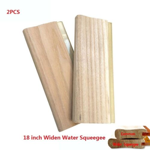 2pcs18 inch (45cm) Widen Water Squeegee - 65 Durometer Special for Big Hand New