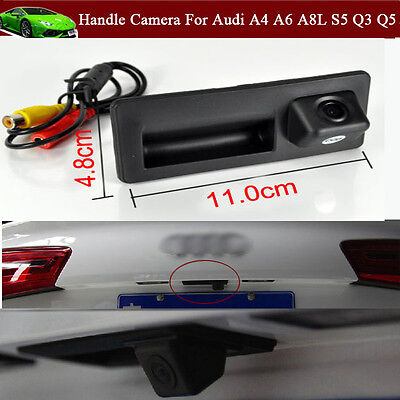Car Trunk Handle CCD Rear View Backup Parking Camera for Audi A4 A6 A8L S5 Q3 Q5