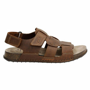 Clarks Men's Sandals Keften Cove Brown Tobacco Nubuck Size 12 M