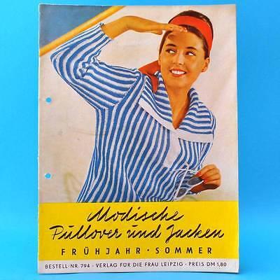Modische Pullover und Jacken   DDR 1961   Verlag für die Frau 794   Stricken