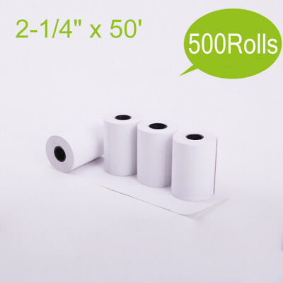 500 Rolls 2-14x50 Thermal Paper Pos Cash Credit Card Register Receipt Vx520