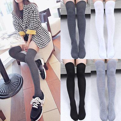 Thigh High Socks (Fashion Ladies Women Girls Thigh High OVER KNEE Socks Long Cotton Stockings)