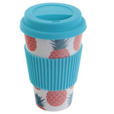 To Go Ananas biologisch abbbaubar mit Deckel Kaffeetasse (Ananas Becher)