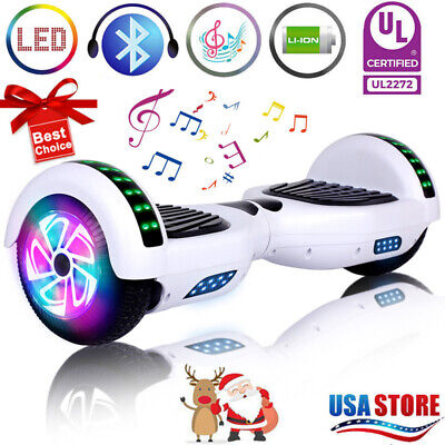 "6.5"" Bluetooth Hoverboard Electric Self Balancing Scooter LED Light UL2272 nobag"