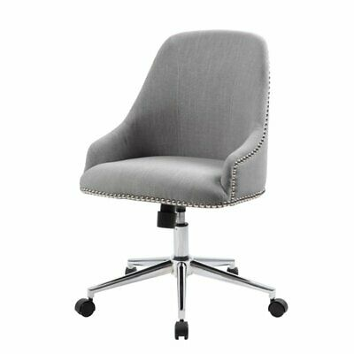 Natural Greige Desk Chair In Gray