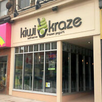 Kiwi Kraze is hiring part-time.