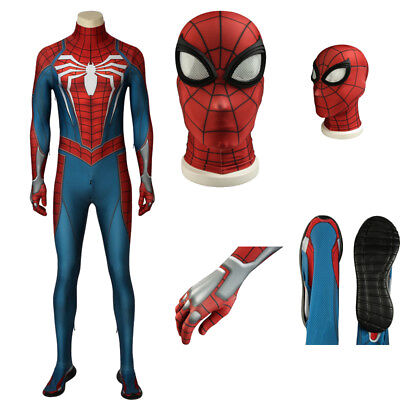 Adult Spiderman Outfit (New Arrival Spider-man PS4 Game Cosplay Costume Jumpsuits Halloween Adult)