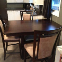 Contemporary 8 Seat Pub Style Dining Table