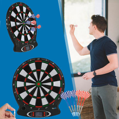 Electronic Dartboard LED Magnetic Board Darts Set Hanging Indoor Dart Wall Set (Magnetic Darts)
