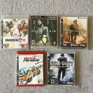 Playstation 3 with 5 Games and Turtle Beach Headset & Glasses London Ontario image 7