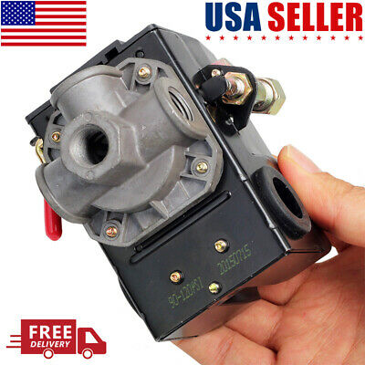 4 Port Unloader Onoff Lever Air Compressor Pressure Switch Control Valve 120psi
