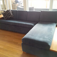 very large custom made sofa couch with pull out bed