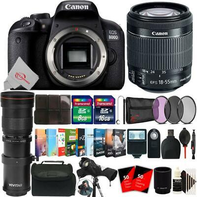 Canon EOS 800D 24.2MP DSLR Camera + 18-55mm & 420-800mm Lens Accessory Kit