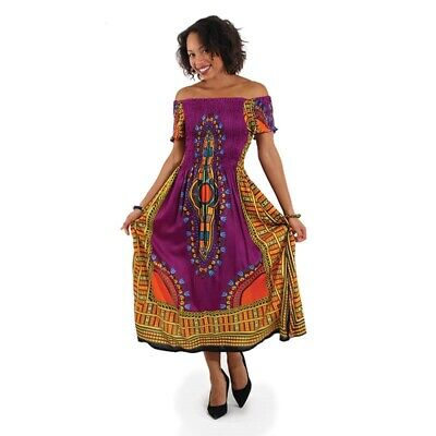 - Traditional African Print Elegance Dress Women's Clothing