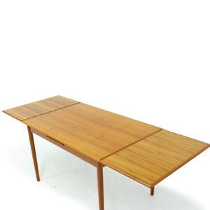 1960's Extendable Danish Teak Dining Table