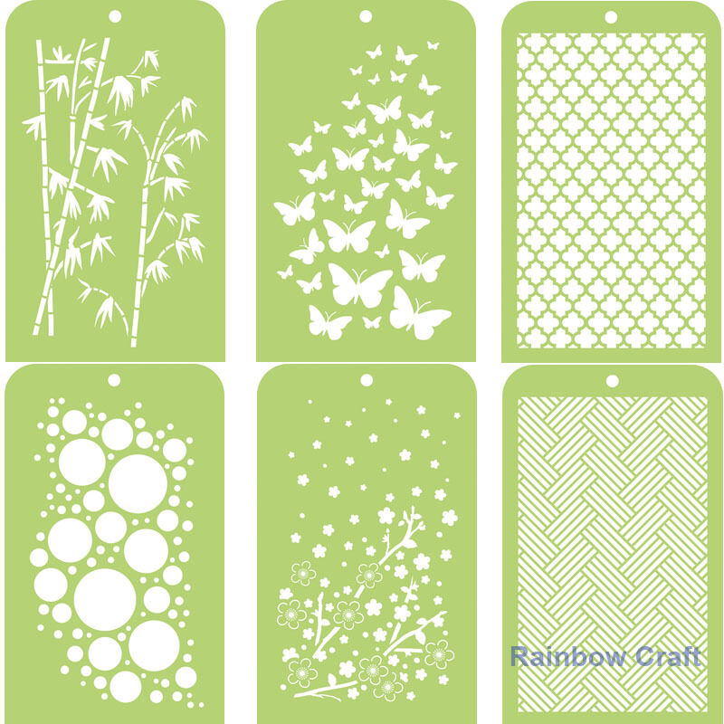 Kaisercraft Mini Designer Templates Stencils Blossom Christmas Holly Leaves