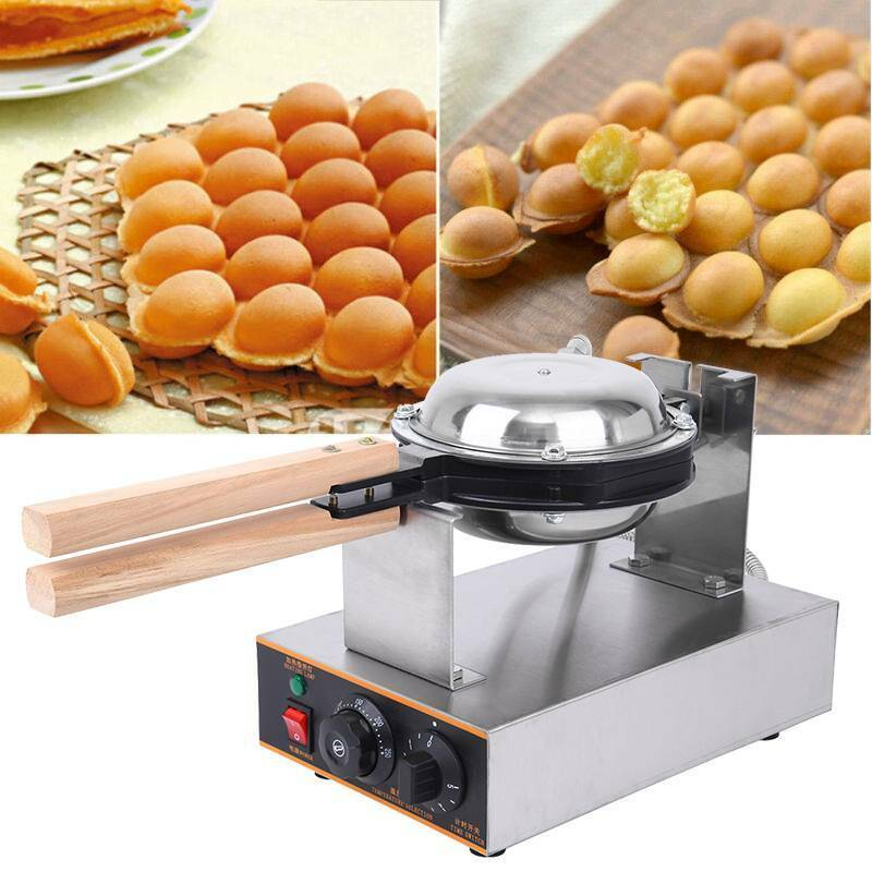 Commercial Electric Bubble Egg Cake Maker Oven Non Stick Waf