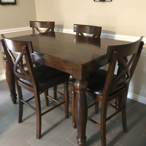 Table & Four padded Chairs