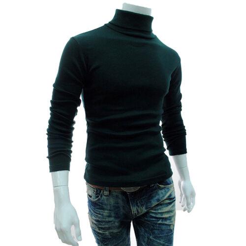 Herren Rollkragen T Shirt Slim Fit Langarm Freizeit Unterziehshirt Unterwäsche