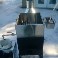 Maple syrup evaporators and stoves.