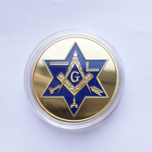 Mason Masonic Freemason Freemasonry Faith Commemorative Collectible Coin GOLD US