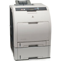 WOW!! HP Color Laser Jet CP3505TN printer w/ 4 extra new toners