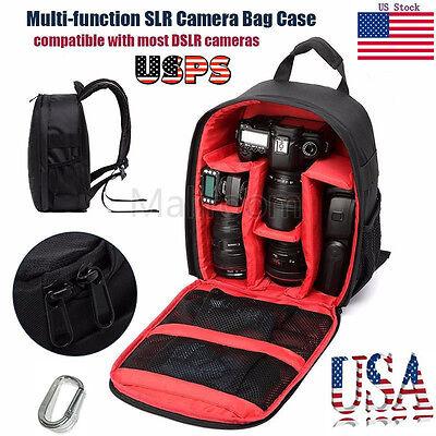 Waterproof Camera Backpack Bag Lens Case Rucksack For DSLR For Canon For Nikon