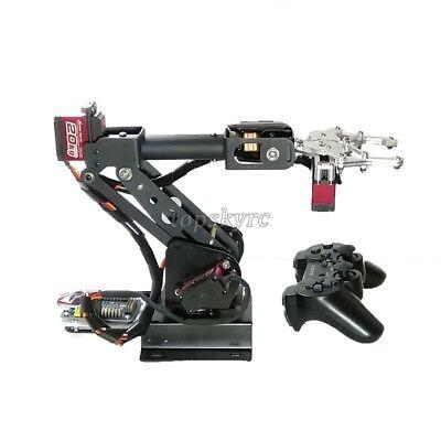 Assembled 6dof Robot Arm Clamp Set Educational Diy Kit W Large Torque Servo