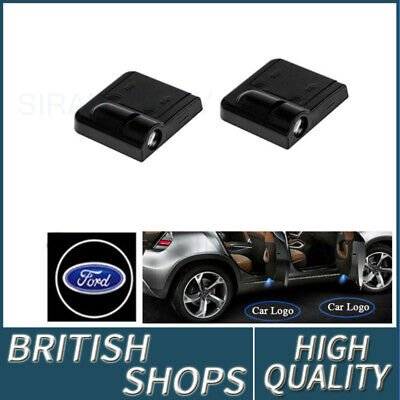 1Pair Wireless Car Door Welcome Projector Logo Ghost Shadow Laser Light For Ford