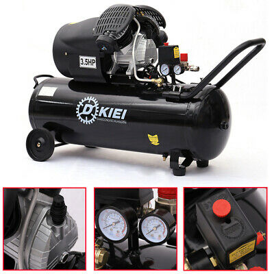 3.5HP 100 Litre Air Compressor Garage Industrial Air Tools -14.6CFM, 100L Engine