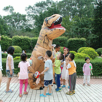 Inflatable Dinosaur T-REX Adult Costume Jurassic Funny Cosplay Blowup Suit