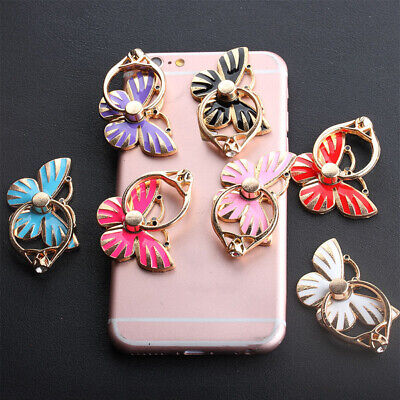 1PC Butterfly Mobile Cell Phone Ring Holder Stand Universal 360° Rotation Alloy Butterfly Ring Holder