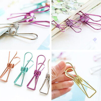 5 Pcs Novelty Hollow Out Metal Binder Clips Cute Paper Clip Diy Office Supplies