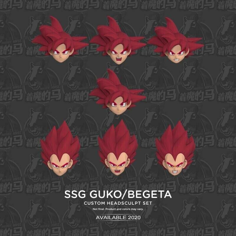 In STOCK Demoniacal Fit SSGSS Goku & Vegeta Custom Headsculpt Action Figure