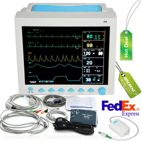 ICU CCU Vital Signs Patient Monitor CO2 Monitoring 6 Parameters With ETCO2,USA
