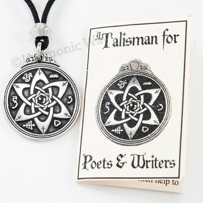 TALISMAN POETS WRITER Necklace Magical symbols Amulet Pendant