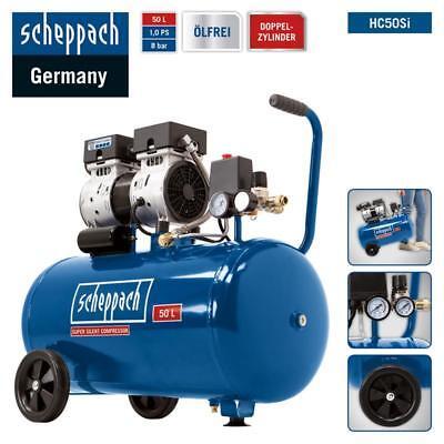 Scheppach Leise Kompressor HC50Si 50L Flüsterkompressor 8bar - Silent nur 60dB