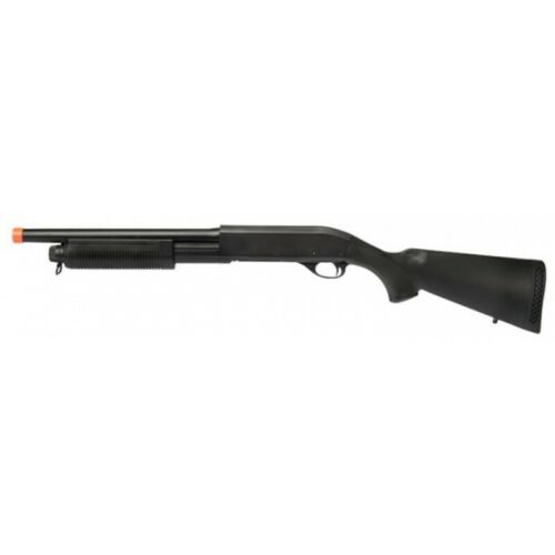 Lancer Tactical M870 Shell Loading Tri-Shot Airsoft Shotgun BLACK
