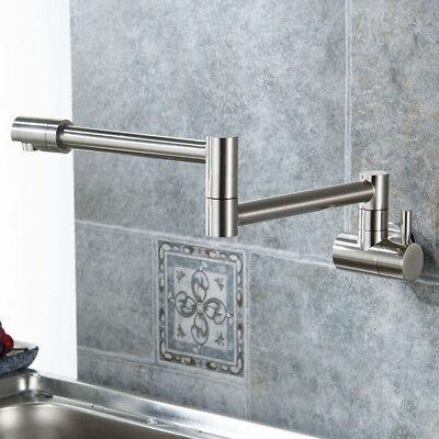 Wall Mount Single Cold Handle Pot Filler Kitchen Faucet Swing Swivel Spout (Swing Single Handle)