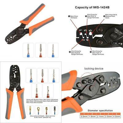 IWISS Weather Pack Terminal Crimping Tool - Wire Crimper For Delphi Metri-Pack 1 ()