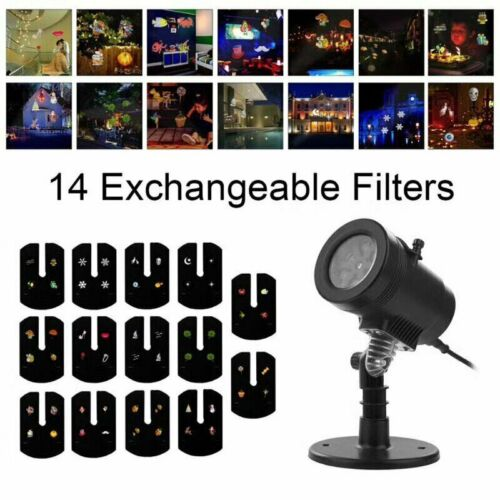 Christmas Projector Light Moving LED Laser Landscape Outdoor Halloween Xmas Lamp