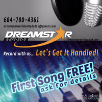 Record Your First Song for FREE with Dreamstar World United