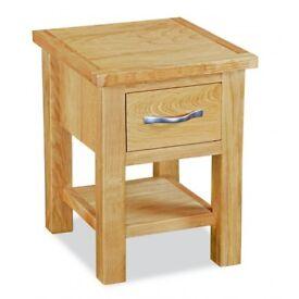 New Tuscan Trinity Modern Oak Lamp Side Table £79