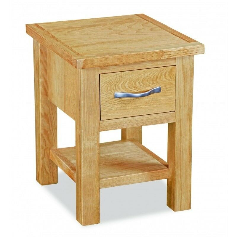 New Tuscan Trinity Modern Oak Lamp Side Table 79