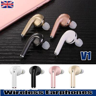 Bluetooth Wireless Handsfree Sport Headset Single In-Ear Earpod Earbud Universal