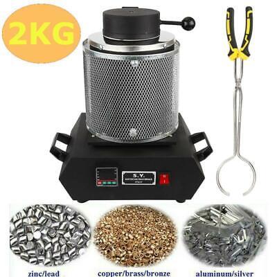 2KG Electric Digital Gold Melting Furnace Silver Metal Jewel