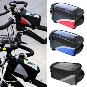 Portable Bicycle Frame Front Tube Pannier Bag Phone Holder Pouch