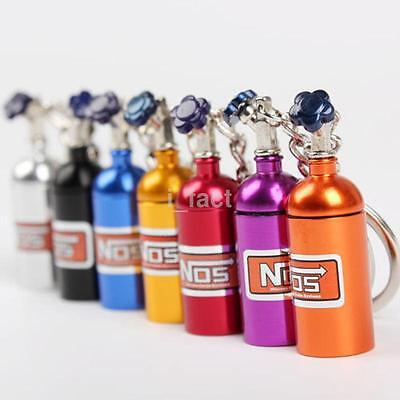 Hot NOS Bottle Tank Nitrous Oxide Keyring Keyfob Keychain Metal Storage Pill Box