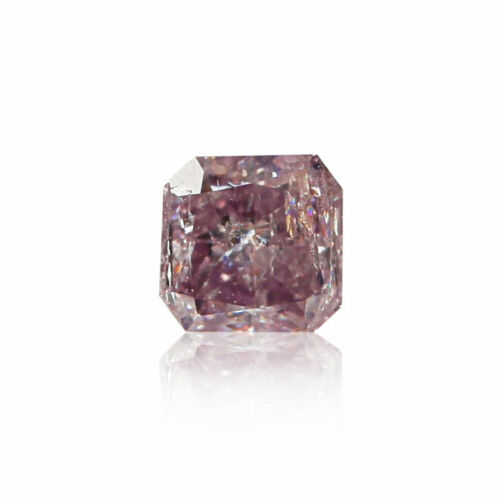 Pink Fancy Diamond Natural Color 0.16 Ct Loose GIA Certified Radiant Cut